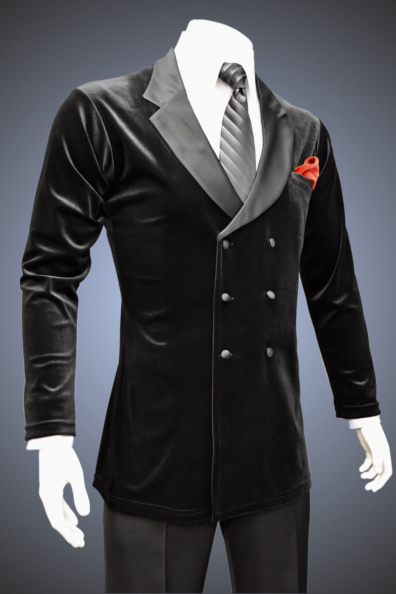 Men's Double-Breasted Velvet Lounge Smooth Jacket - JK101 - Jacket by Randall Ready