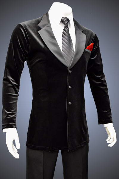 Men's Single-Breasted Velvet Lounge Smooth Jacket - JK102 - Jacket by Randall Ready