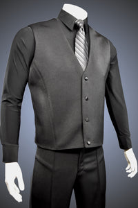 Single-Breasted Dance Vest Without Lapels - Vest1 - Jacket by Randall Ready