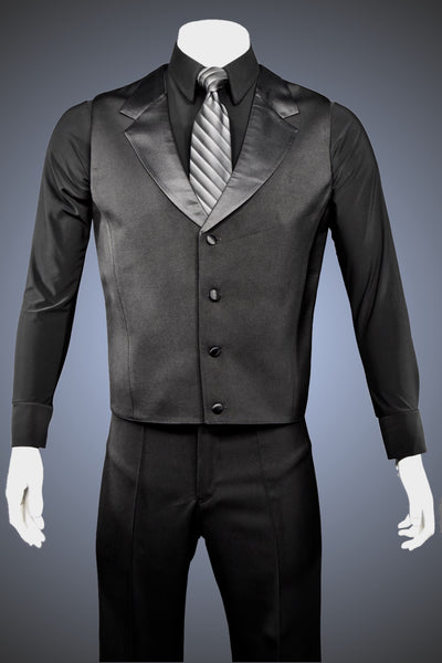 Single-Breasted Dance Vest with Notched Lapels and Straight Hem - Vest2 - Jacket by Randall Ready