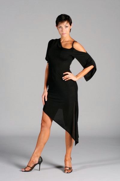 Ladies Off-Shoulder Latin Dress with Split Sleeves - LD4 - Dress by Randall Designs