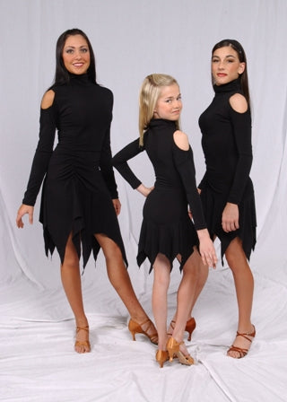 Youth Turtleneck Dance Bodysuit w/ Side Rouching - LD7-J - Youth by Randall Designs
