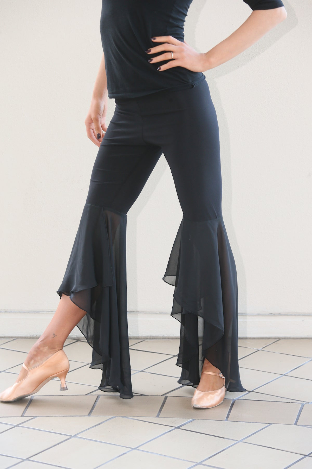 Ladies Dance Pant with Chiffon Wrap Hem - RP103 - Pants by Randall Designs