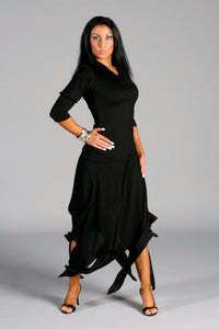 Ladies Latin/Rhythm Skirt with Multi-Slits - RS-8 - Skirt by Randall Designs