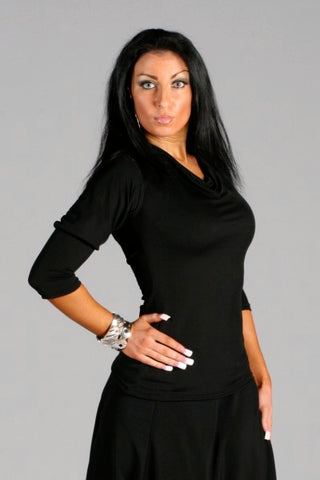 Ladies Cowl Neck with Tie Dance Top - RT-5 - Shirt by Randall Designs