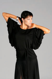Ladies Drape Sleeve Dance Top with Belt - Shirt by Randall Designs
