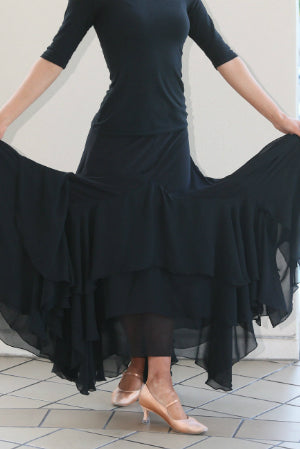 Ladies Tiered Chiffon Smooth Skirt - SS107 - Skirt by Randall Designs