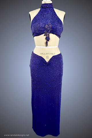 Purple Long Latin Two-Piece - Dress by Randall Designs