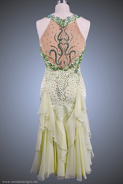 Mint Gown with Lace Applique - Dress by Randall Designs
