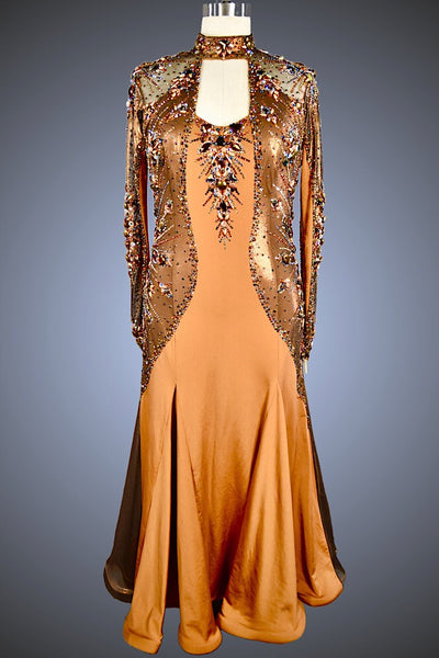 Copper and Bronze Gown - Dress by Randall Designs