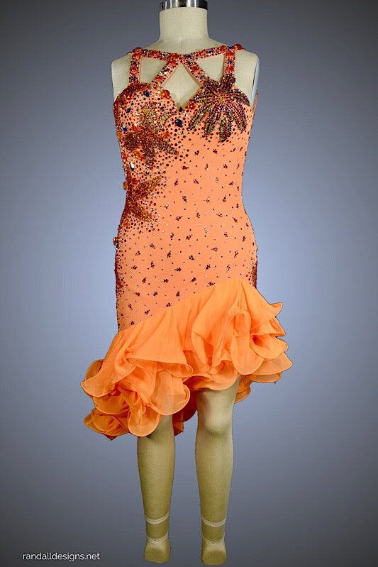 Mango with Ruffle Skirt - Dress by Randall Designs