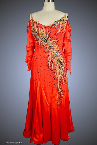 Flame Ballgown with Sequin Appliqué - Dress by Randall Designs