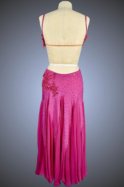 Orchid Eight-Point Star with Open Sides and Silk Chiffon Skirt - Dress by Randall Designs