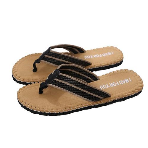 Men's Solid Flip Flops - Sandal Nation