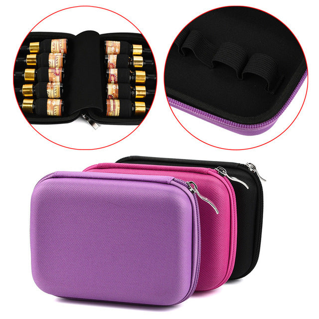 10 Roller Bottles Essential Oil Case Holder