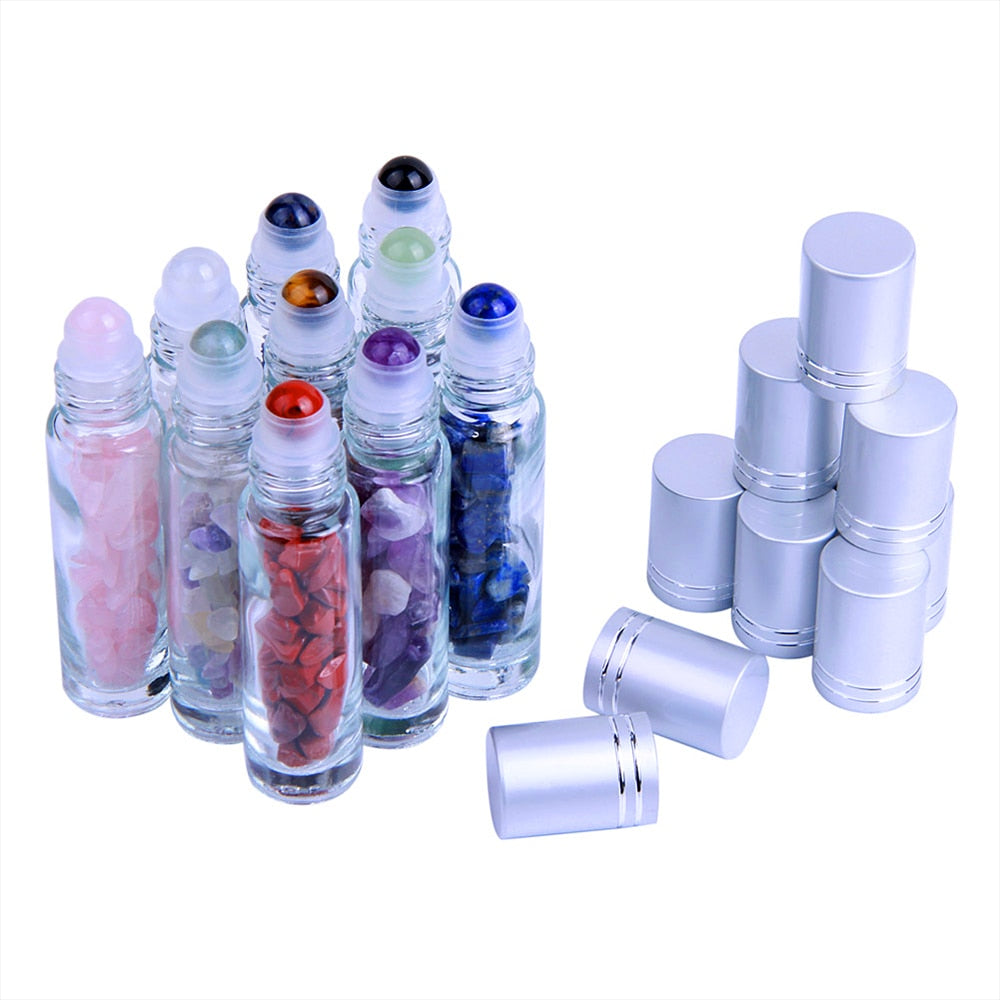 10pcs Essential Oil Bottles Roll On Roller Ball