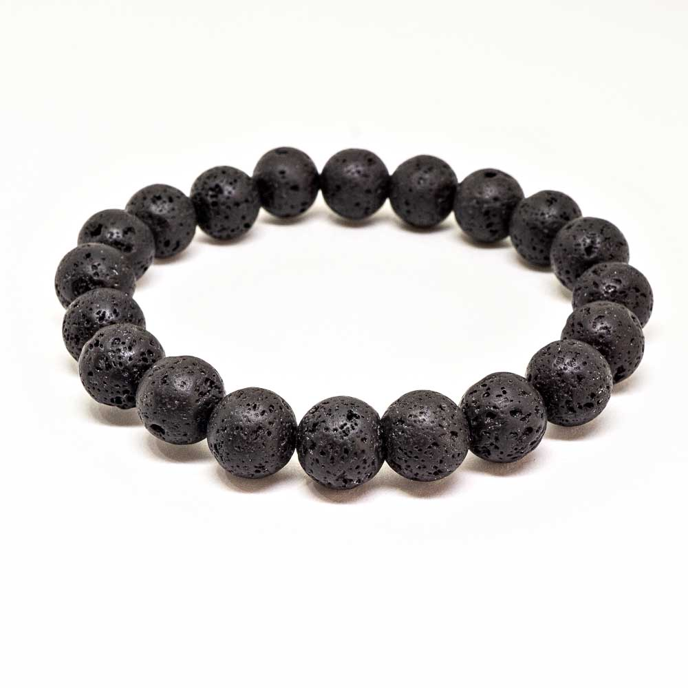 Balance Lava Rocks Beaded Bracelet