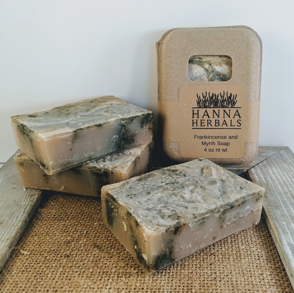 Hanna Herbals Frankincense and Myrrh Handmade Soap