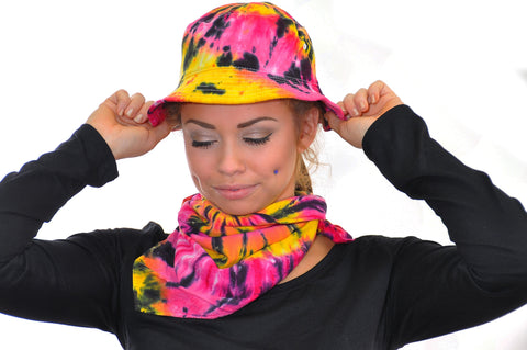 Black Ink Pink Bucket Hat