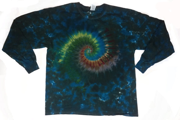 Adult Long Sleeve Tee Rainforest Earth Spiral