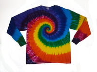 Adult Long Sleeve Tee Classic Rainbow Spiral