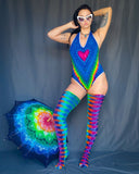 Rainbow Love One Piece Suit