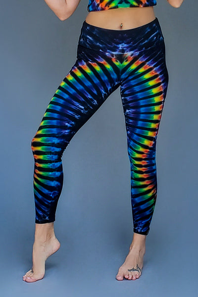Midnight Rainbow WigWag Leggings
