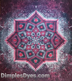 Strong Red and Black Mandala Original 7'x8' #1605