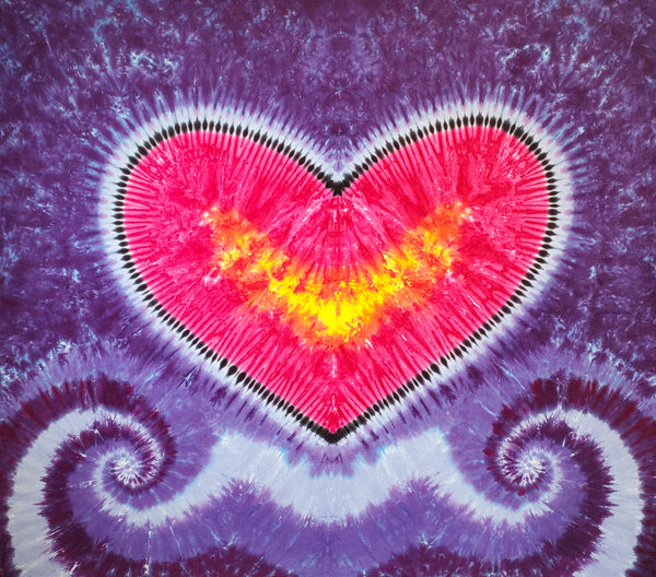Love in Perfect Purple Swirls 4.5'x4.5' #1611 Original