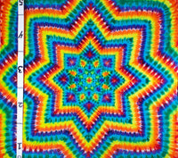 Bright Rainbow Mandala 4.5'x4.5' #1620 Original