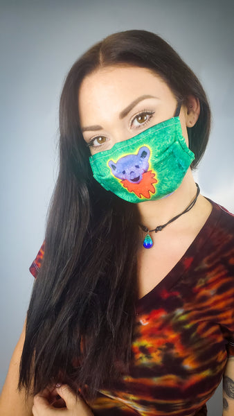 Green Bear Face Mask