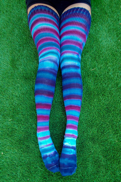 Caribbean Sunset Thigh High Socks
