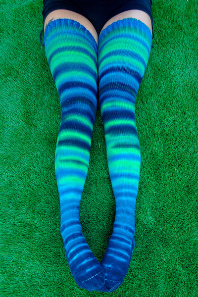 Blue Dream Thigh High Socks