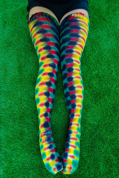 Rasta DNA Thigh High Socks