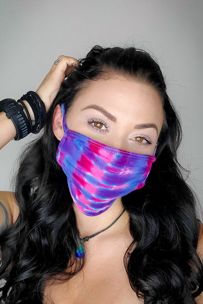 Pink Berry Power Original Tie Dyed Face Mask