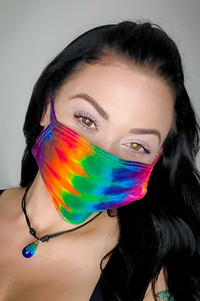 Rainbow Original Tie Dyed Face Mask