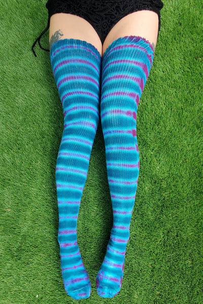 Ocean Berry Thigh High Socks