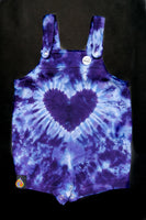 Purple Heart Infant Overall Romper