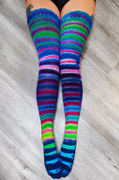 Sweet Tart Thigh High Socks