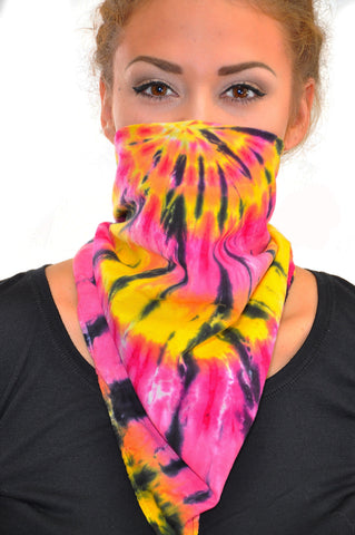 Black Ink Pink Bandana