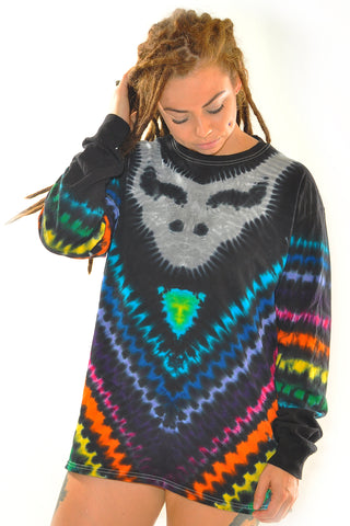 Black Rainbow Stealie Adult Long Sleeve