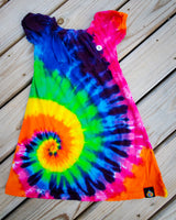 Swirly Rainbow Girls Dress