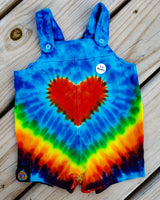 Rainbow Love Infant Overall Romper