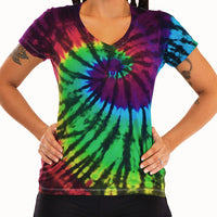 Midnight Rainbow Ladies V-Neck