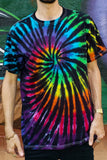 Midnight Rainbow Swirl Adult Short Sleeve