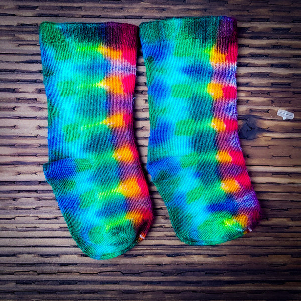 Crazy Rainbow Baby Bamboo Socks