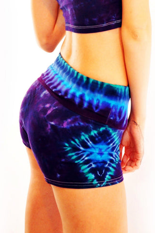 Sea Goddess Diamond Yoga Shorts