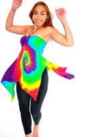 Bright Rainbow Spiral Convertible Halter/Skirt