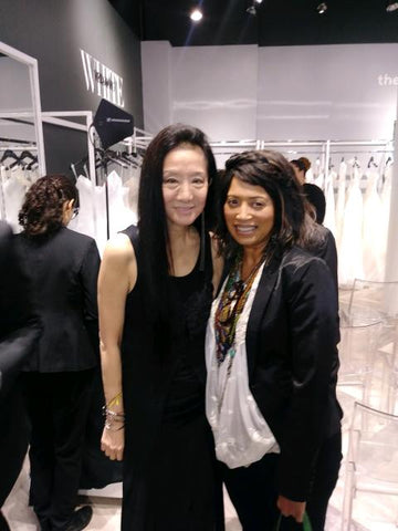 bridalbouquets.com founder Donna Means with Vera Wang
