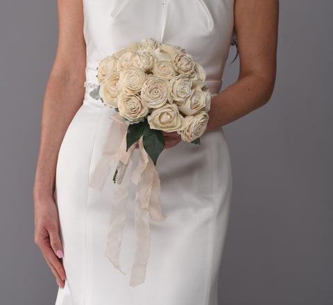 The Grace Sola Wood Bridal Bouquet Purchase - Bridalbouquets.com